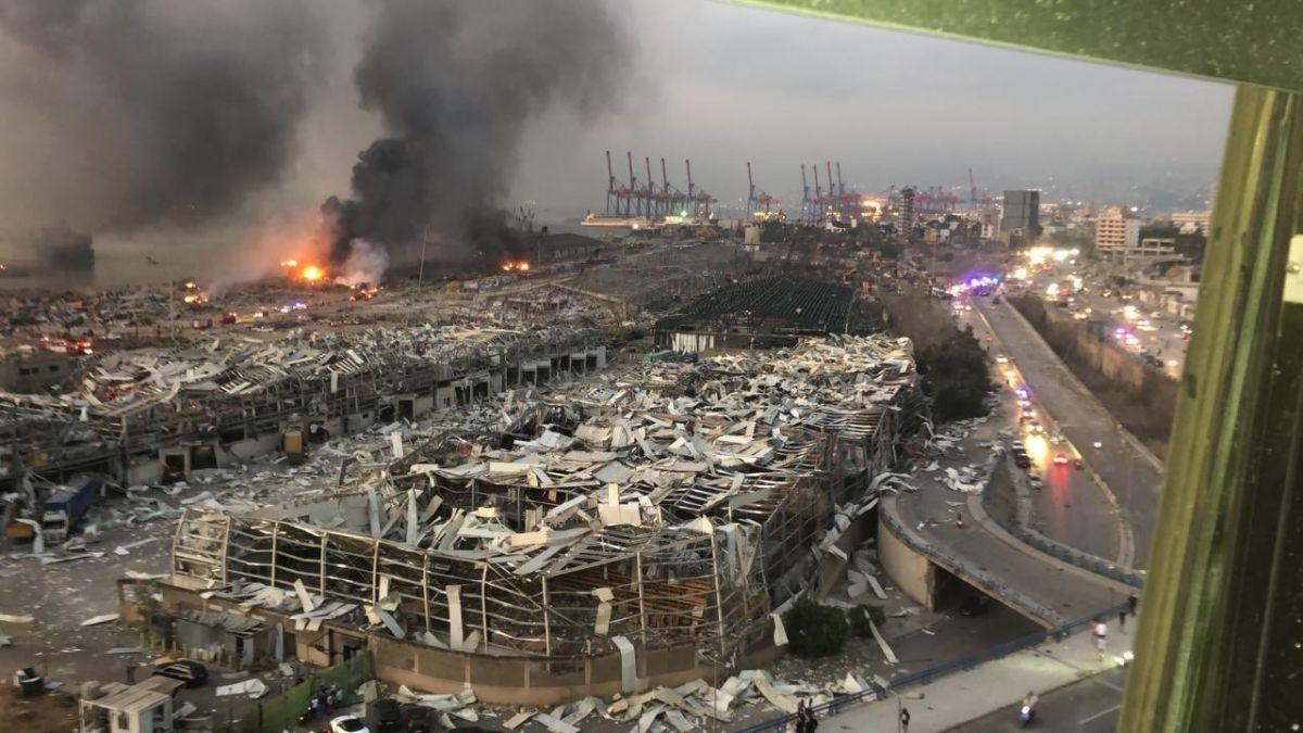 بيان تعزية من حزب الله لضحايا إنفجار بيروت 4-8-2020