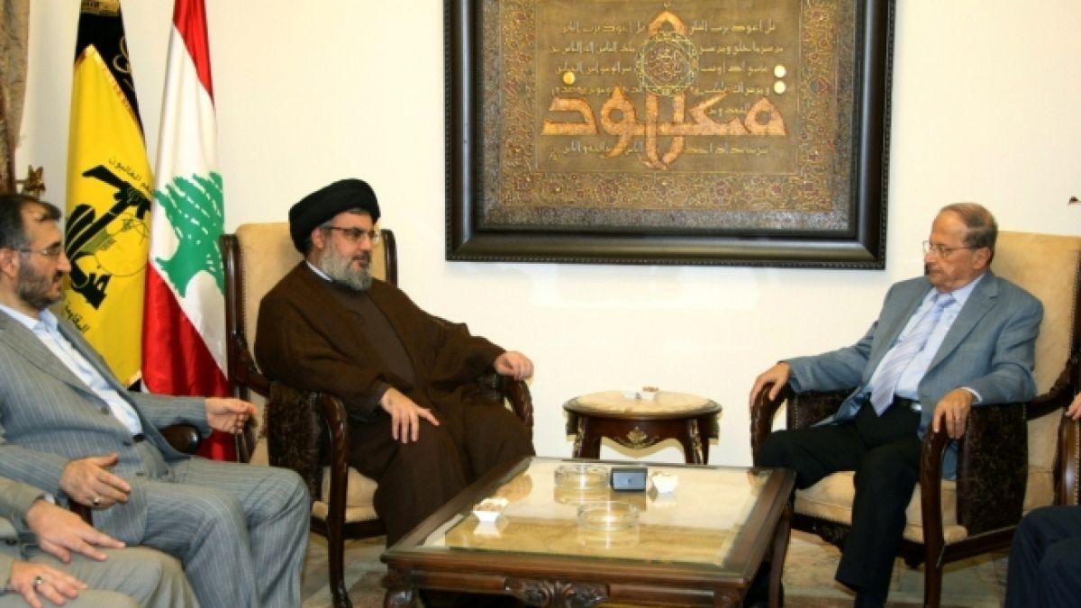 لقاء السيد نصر الله مع العماد  ميشال عون 16-10-2010