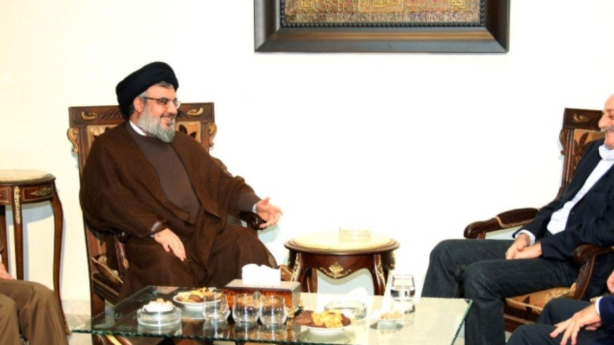 لقاء السيد نصر الله مع النائب وليد جنبلاط 18-10-2010