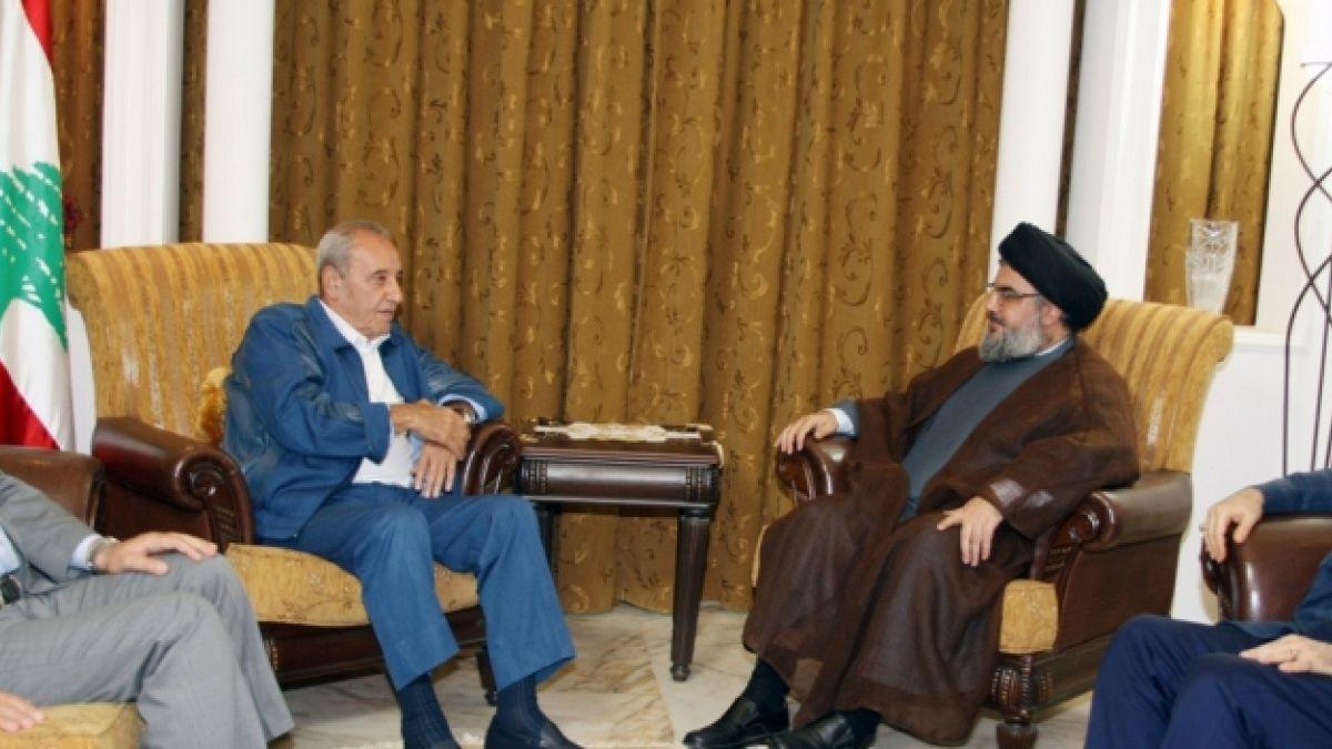 لقاء السيد نصر الله مع الرئيس نبيه بري 2-8-2010