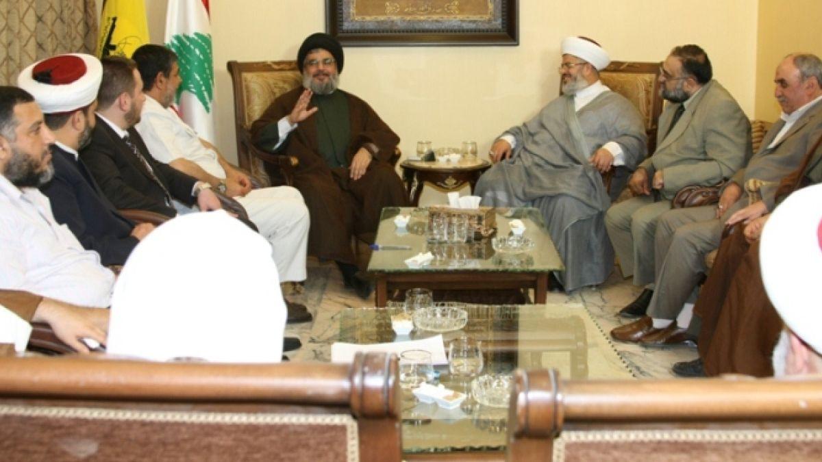 السيد نصر الله وقيادة جبهة العمل الاسلامي 22-7-2010