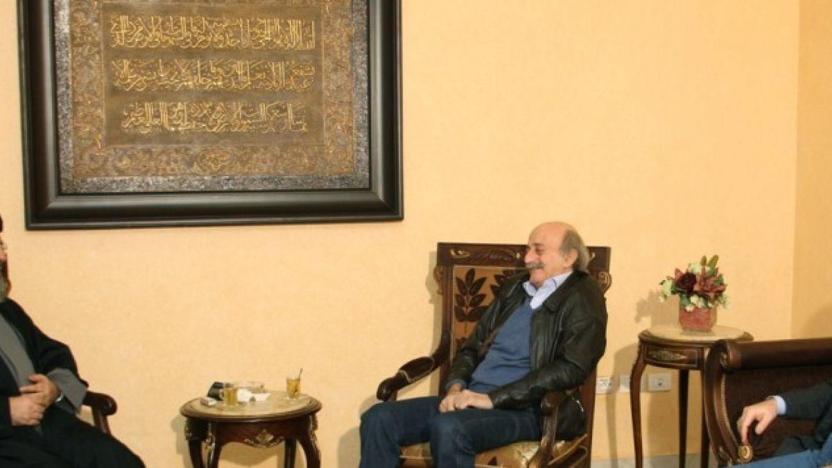 لقاء السيد نصر الله مع النائب وليد جنبلاط 21-1-2011
