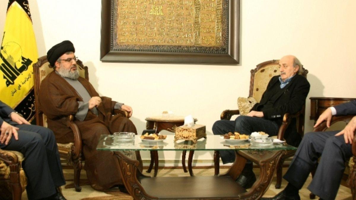 لقاء السيد نصر الله مع النائب وليد جنبلاط 29-3-2011