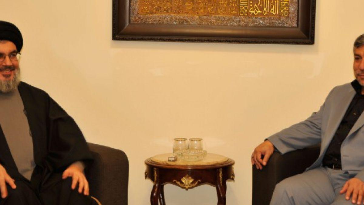 لقاء السيد نصر الله مع وزير الطاقة الإيراني 16-11-2012