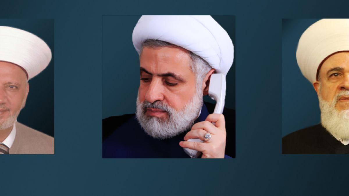 اتصال الشيخ قاسم بالمفتيين قباني ودريان 12-8-2014