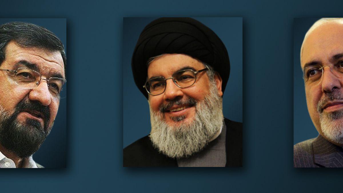برقية تهنئة للسيد نصر الله من ظريف ورضائي 15-8-2014