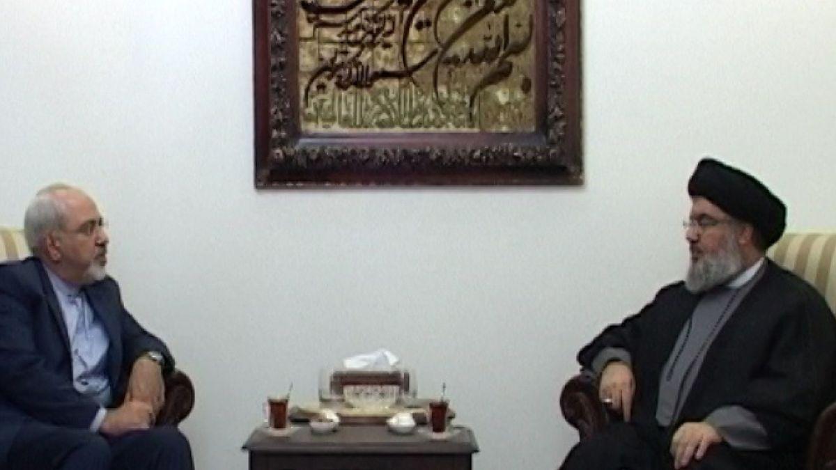 لقاء السيد نصر الله مع محمد جواد ظريف 13-1-2014