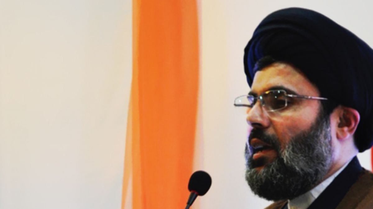 كلمة السيد هاشم صفي الدين في بلدة ديرقانون النهر 1-10-2014