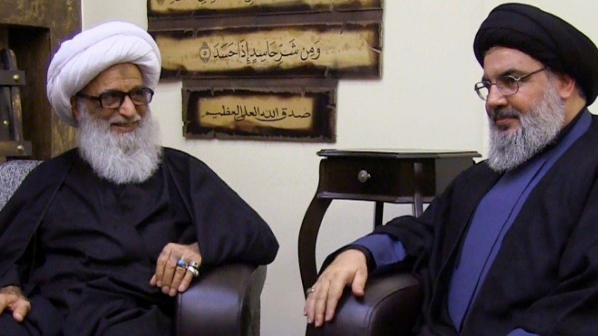 زيارة السيد نصر الله الشيخ بشير النجفي 18-11-2014