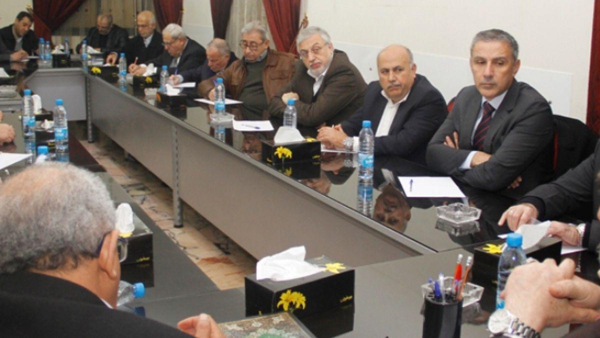لقاء السيد ابراهيم أمين السيد مع شخصيات وطنية 6-1-2015
