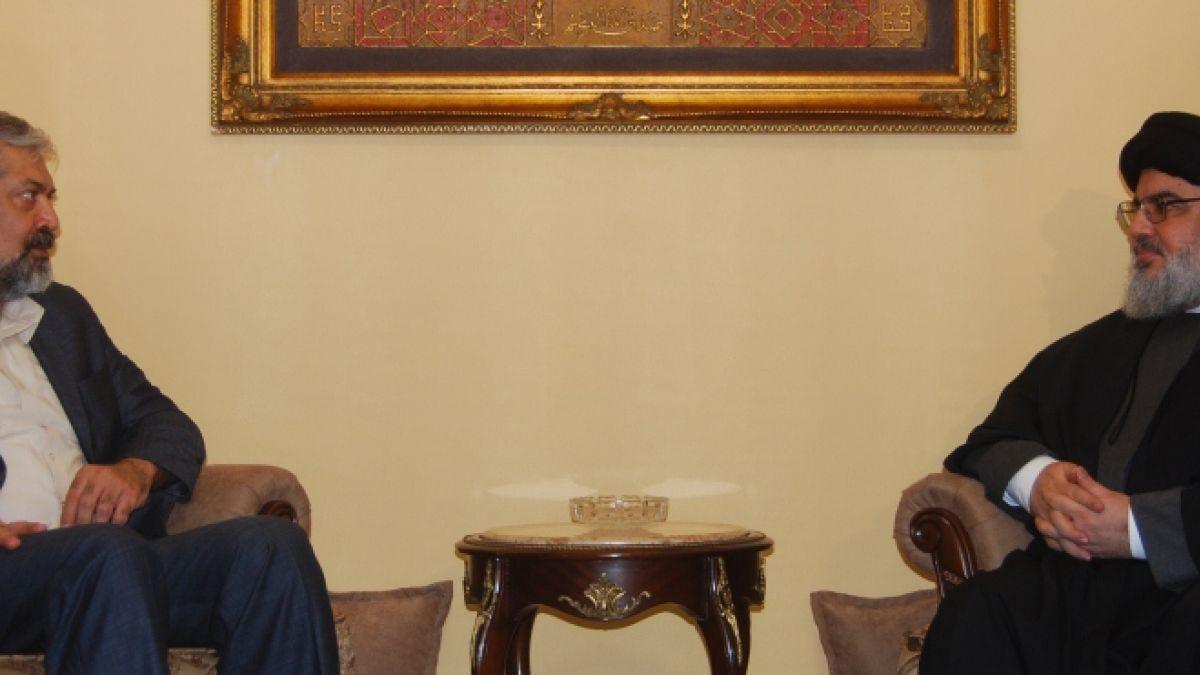 لقاء السيد نصرالله مع السيد مرتضى سرمدي 9-4-2015