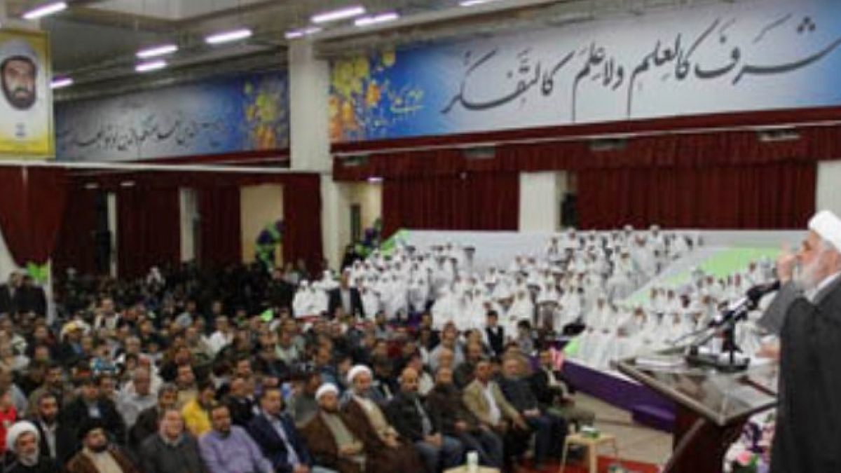 كلمة الشيخ قاسم في حفل تكريم نجمات البتول 23-5-2015