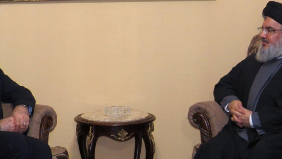 قاء السيد نصر الله مع وزير الصحة الايراني 7-1-2016