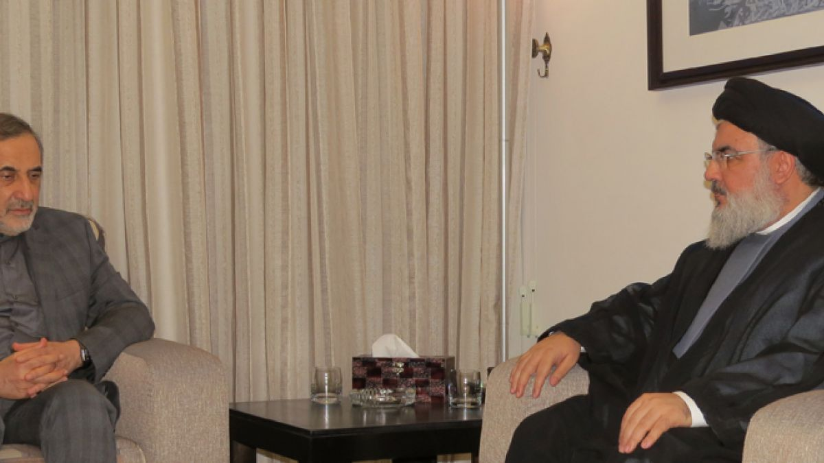 لقاء السيد حسن نصرالله مع علي أكبر ولايتي 6-5-2016