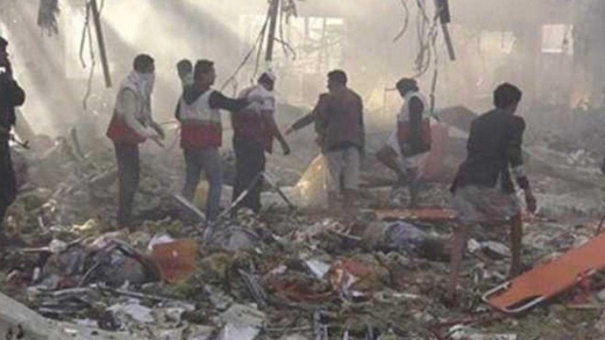 إدانة السيد نصرالله للمجزرة التي ارتكبتها السعودية في صنعاء 8-10-2016