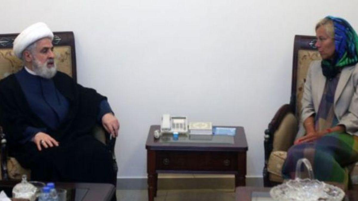 لقاء الشيخ قاسم مع مساعدة الأمين العام للأمم المتحدة