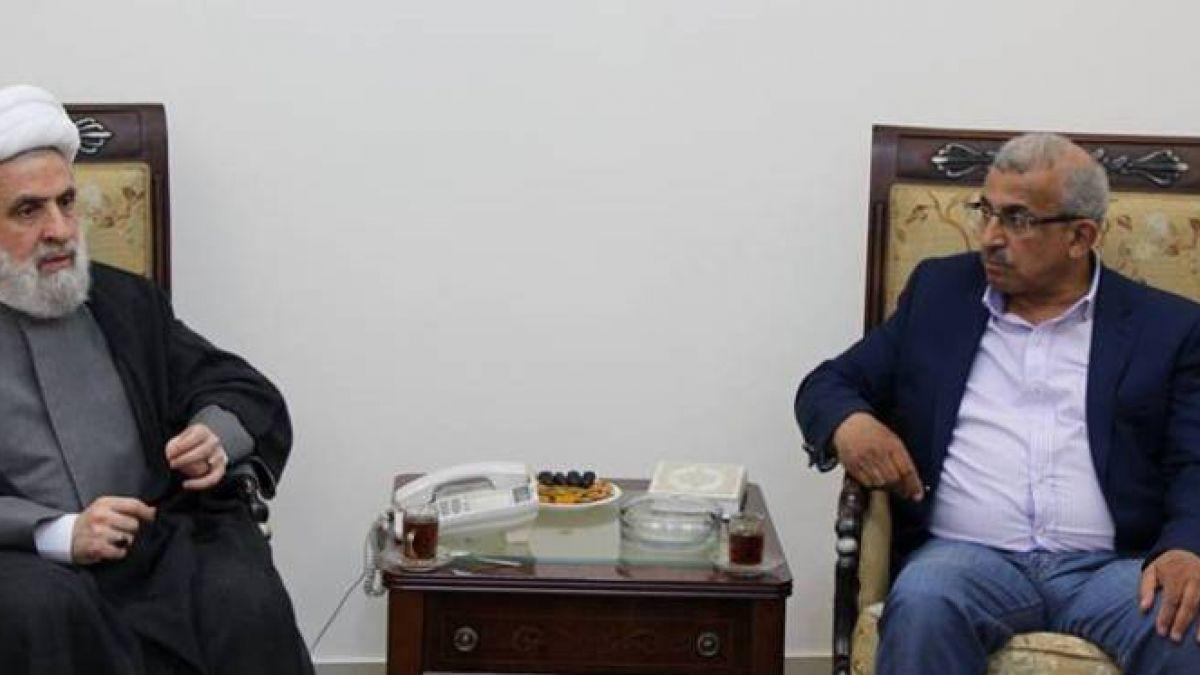 لقاء الشيخ نعيم قاسم مع النائب أسامة سعد 11-5-2018