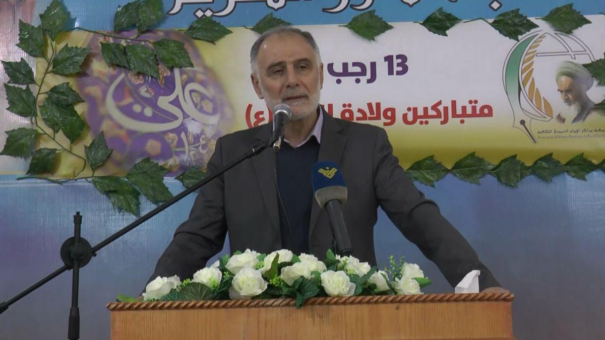 كلمة لوزير الشباب والرياضة محمد فنيش في قانا 24-3-2019