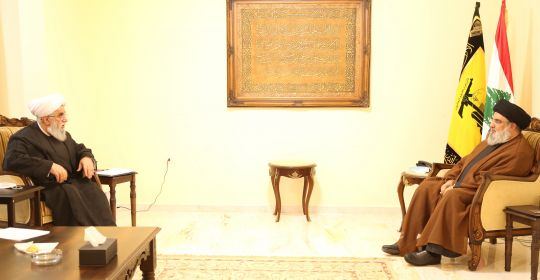 استقبال السيد حسن نصر اللَّه آية اللَّه رضا رمضاني الأمين العام للمجمَع العالمي لأهل البيت  16-10-2021