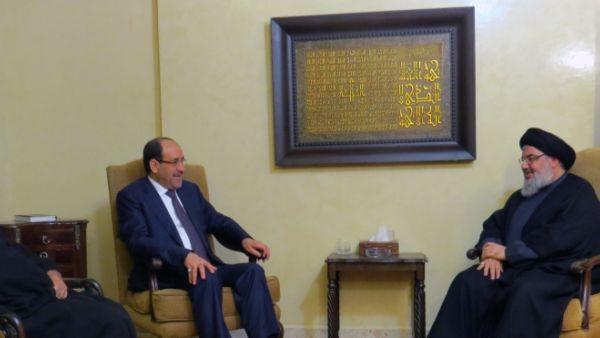 فيديو لقاء السيد نصر الله مع نوري المالكي 2-12-2014