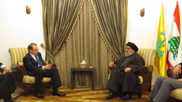 فيديو لقاء السيد نصر الله مع بوغدانوف 6-12-2014
