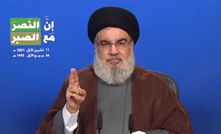 كلمة السيد حسن نصر الله التي تطرق فيها إلى عدد من المستجدات والتطورات السياسية 11-10-2021