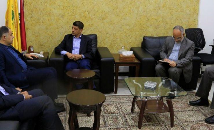 استقبال الحاج محمد عفيف مدير عام الوكالة الإيرانية 4-5-2017